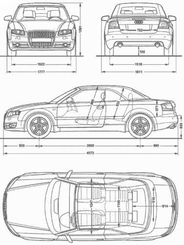 the blueprints cars audi audi a4 cabriolet. Black Bedroom Furniture Sets. Home Design Ideas