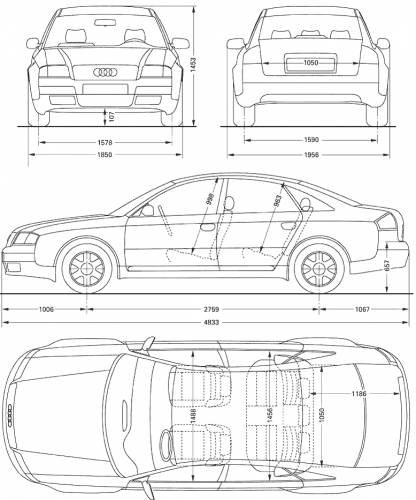 the blueprints cars audi audi a6. Black Bedroom Furniture Sets. Home Design Ideas