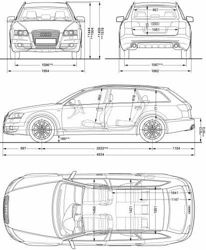 the blueprints cars audi audi a6 allroad 2006. Black Bedroom Furniture Sets. Home Design Ideas