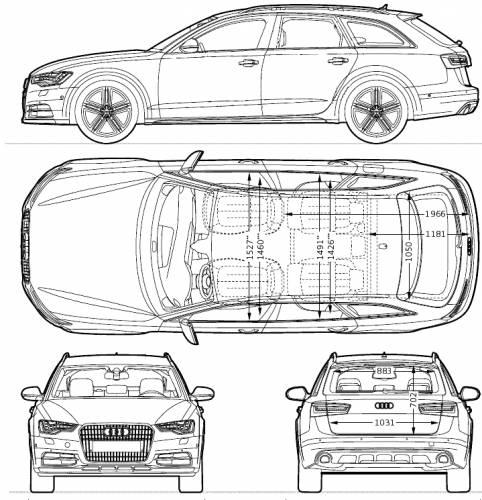 the blueprints cars audi audi a6 allroad quattrio 2013. Black Bedroom Furniture Sets. Home Design Ideas