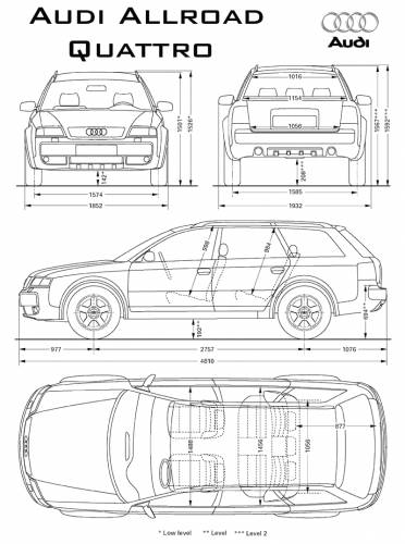 the blueprints cars audi audi allroad. Black Bedroom Furniture Sets. Home Design Ideas
