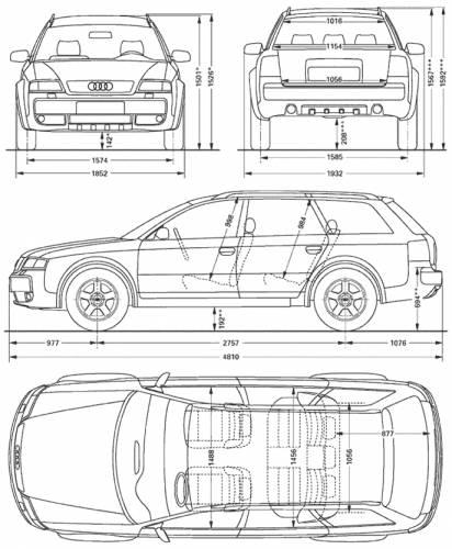 the blueprints cars audi audi allroad. Black Bedroom Furniture Sets. Home Design Ideas