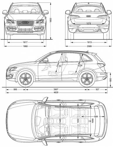 The Blueprints Com Blueprints Cars Audi Audi Q5 2009