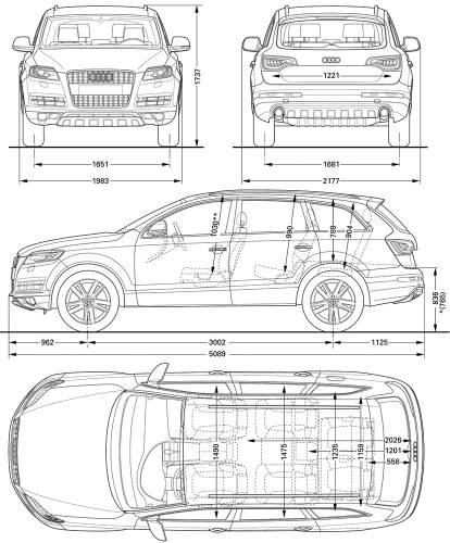 the blueprints cars audi audi q7 2010. Black Bedroom Furniture Sets. Home Design Ideas