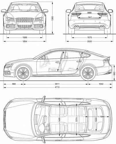 the blueprints cars audi audi s5 sportback 2011. Black Bedroom Furniture Sets. Home Design Ideas