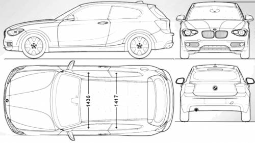 Blueprints > Cars > BMW > BMW 1-Series 3-Door F21 (2013)