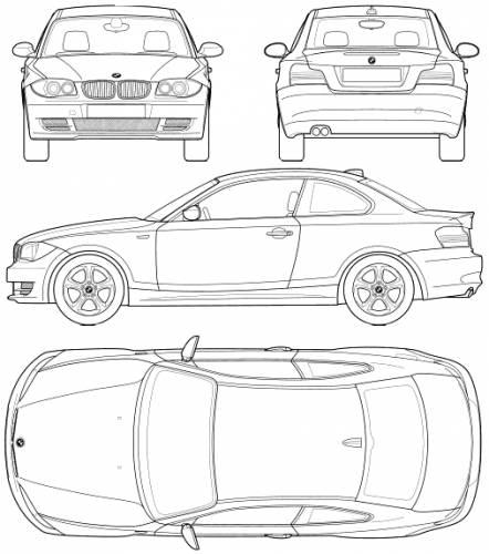 Blueprints > Cars > BMW > BMW 1-Series Coupe (E82) (2008)