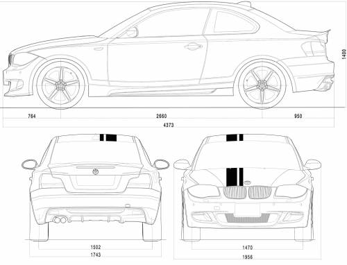 the blueprints cars bmw bmw 1 series tii e82 2009. Black Bedroom Furniture Sets. Home Design Ideas