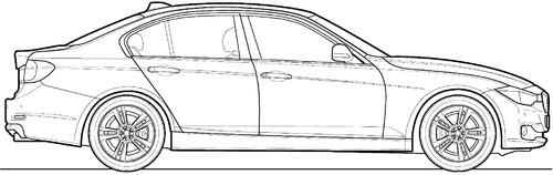 Blueprints Cars Bmw Bmw 320d F30 2014