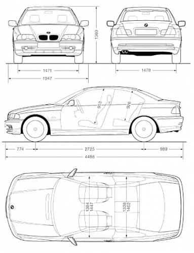 Blueprints cars bmw bmw 3 series coupe e46 bmw 3 series coupe e46 malvernweather Choice Image