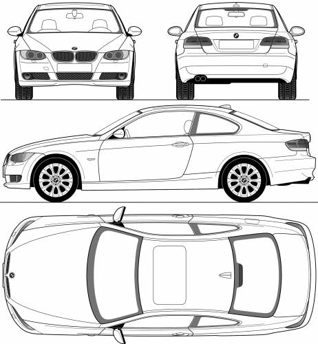 the blueprints cars bmw bmw 3 series e90. Black Bedroom Furniture Sets. Home Design Ideas