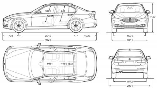 the blueprints cars bmw bmw 3 series sedan f30 2012. Black Bedroom Furniture Sets. Home Design Ideas