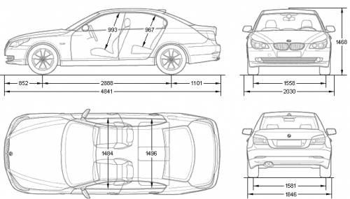 the blueprints cars bmw bmw 5 series e60. Black Bedroom Furniture Sets. Home Design Ideas