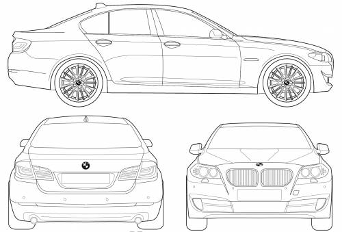 blueprints cars bmw bmw 5 series f10 2010. Black Bedroom Furniture Sets. Home Design Ideas