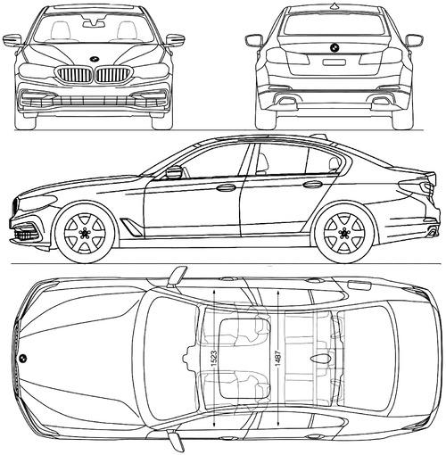 blueprints cars bmw bmw 5 series g30 2017. Black Bedroom Furniture Sets. Home Design Ideas