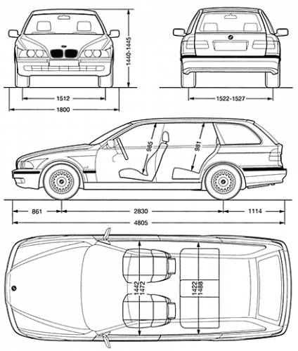 the blueprints cars bmw bmw 5 series touring e39. Black Bedroom Furniture Sets. Home Design Ideas