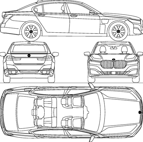 Bmw 7 Series 2020 Blueprint