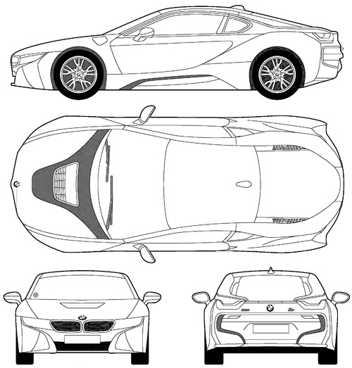 Blueprints Cars Bmw Bmw I8 2016