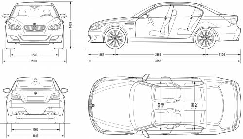 Bmw m5 dimensions auto express the blueprints cars bmw m5 saloon e60 malvernweather Image collections
