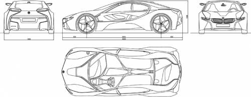 Blueprints Cars Bmw Bmw Vision Efficient Dynamics Concept