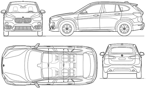 blueprints cars bmw bmw x1 2015. Black Bedroom Furniture Sets. Home Design Ideas