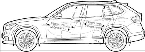 Blueprints Cars Bmw Bmw X1 E84 2013