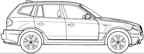 the blueprints cars bmw bmw x3 e83 2004. Black Bedroom Furniture Sets. Home Design Ideas