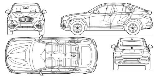 blueprints cars bmw bmw x4 2014. Black Bedroom Furniture Sets. Home Design Ideas