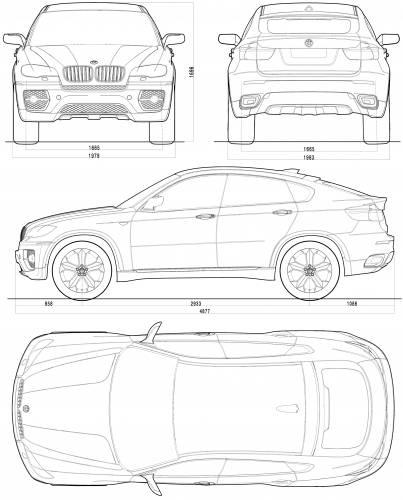 blueprints cars bmw bmw x6 concept e71 2007. Black Bedroom Furniture Sets. Home Design Ideas
