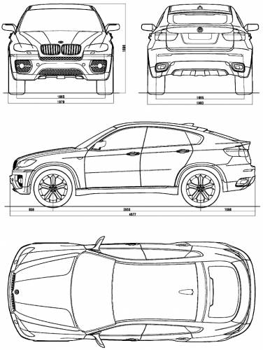 the blueprints cars bmw bmw x6 e71. Black Bedroom Furniture Sets. Home Design Ideas