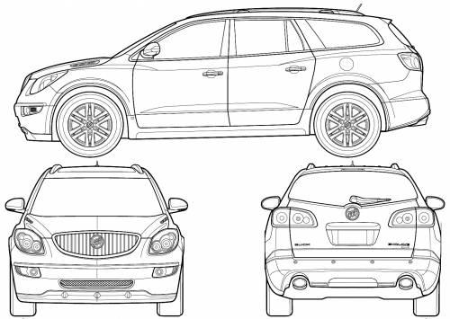 TheBlueprintscom  Blueprints  Cars  Buick  Buick Enclave 2007