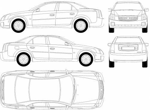 Blueprints > Cars > Cadillac > Cadillac CTS (2003)