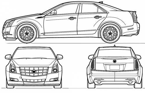 Blueprints > Cars > Cadillac > Cadillac CTS (2010)