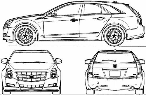 cadillac cts station wagon  2010