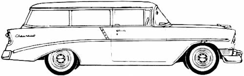 station wagon coloring pages blueprints cars chevrolet chevrolet 210 handyman 2