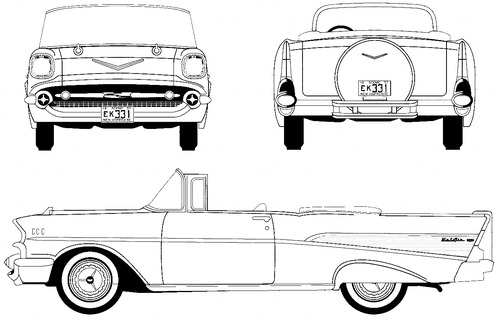 blueprints  u0026gt  cars  u0026gt  chevrolet  u0026gt  chevrolet bel air convertible  1957
