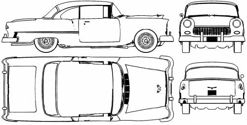 Vector Requests Chevrolet Bel Air Sport Coupe 1955
