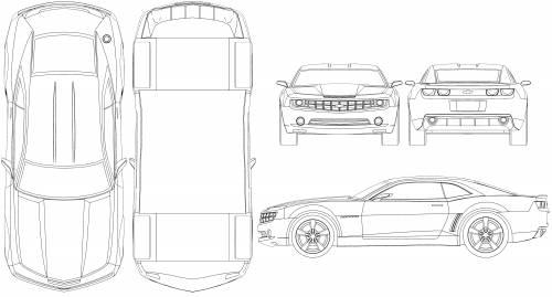 The blueprints blueprints cars chevrolet chevrolet chevrolet camaro 2008 malvernweather Image collections