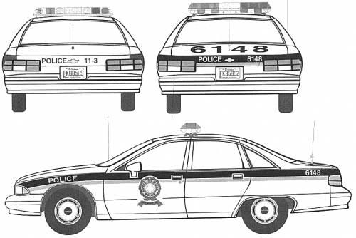 Blue Tape Car Chevrolet_caprice_policecar-27554