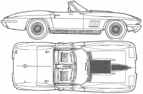 The blueprints blueprints cars chevrolet chevrolet chevrolet corvette c2 roadster 427 1967 malvernweather Images