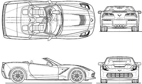 blueprints  u0026gt  cars  u0026gt  chevrolet  u0026gt  chevrolet corvette c7 stingray convertible  2014