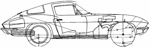 - Blueprints > Cars > Chevrolet > Chevrolet Corvette Stingray (1966