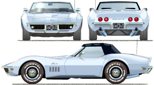 Blueprints > Cars > Chevrolet > Chevrolet Corvette Stingray C3 (1969