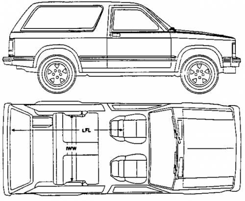 Blueprints > Cars > Chevrolet > Chevrolet S10 Blazer 2-Door (1991)