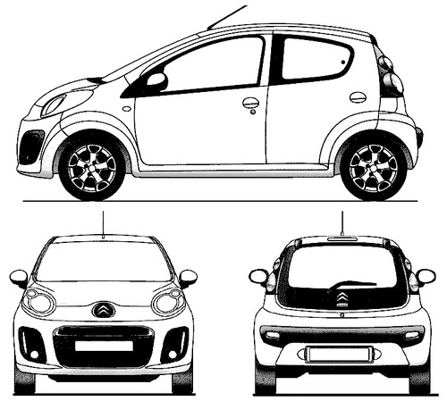 the blueprints cars citroen citroen c1 2013. Black Bedroom Furniture Sets. Home Design Ideas