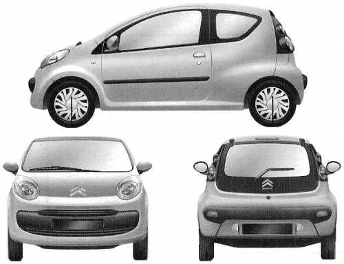 the blueprints cars citroen citroen c1 3 door 2006. Black Bedroom Furniture Sets. Home Design Ideas