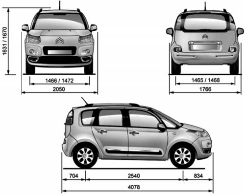 the blueprints cars citroen citroen c3 picasso. Black Bedroom Furniture Sets. Home Design Ideas