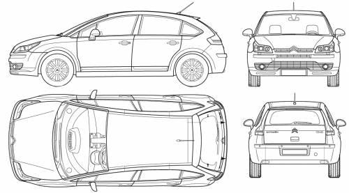 Blueprints > Cars > Citroen > Citroen C4 4-Door