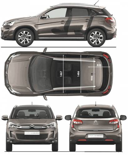 the blueprints cars citroen citroen c4 aircross 2012. Black Bedroom Furniture Sets. Home Design Ideas