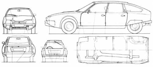 the blueprints cars citroen citroen cx. Black Bedroom Furniture Sets. Home Design Ideas